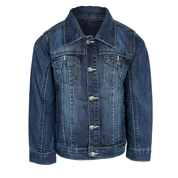 GIRLS DENIM BUTTON DOWN JACKET - ruffntumblekids
