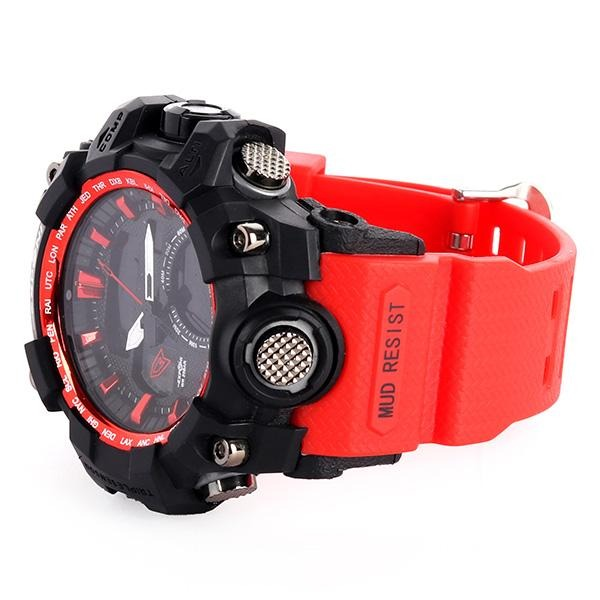 Black/Red HugeMan Wrist Watch