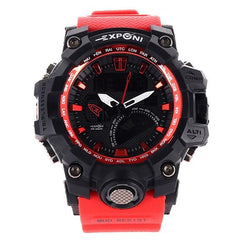 black/red wrist watch-ruffntumble