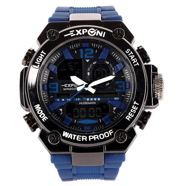 BOYS Black/Blue Huge Man Wrist Watch