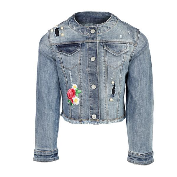 LIGHT WASH DENIM JACKET - ruffntumblekids
