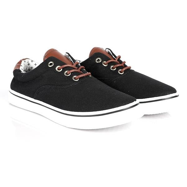 BOYS BLACK CASUAL LACE UP SNEAKERS