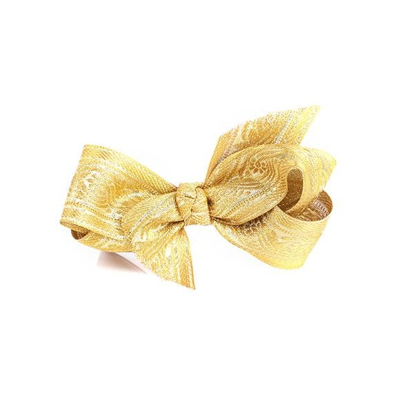 GOLD CENTER HAIR BOW - ruffntumblekids