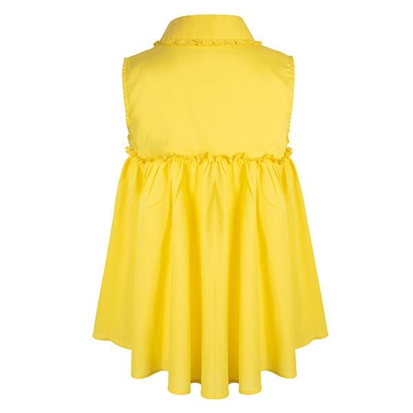 GIRLS YELLOW POPLIN LOOSE SHIRT - ruffntumblekids