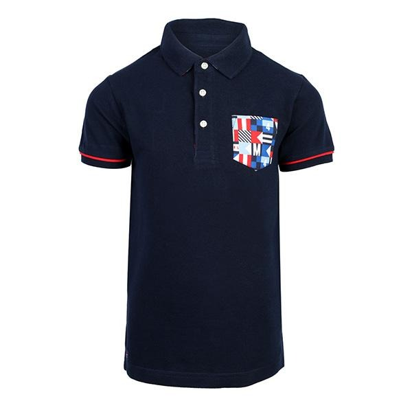 navy blue short sleeve polo-ruffntumble
