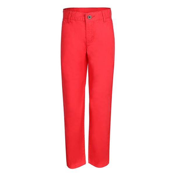 BOYS RED TWILL BASIC TROUSER