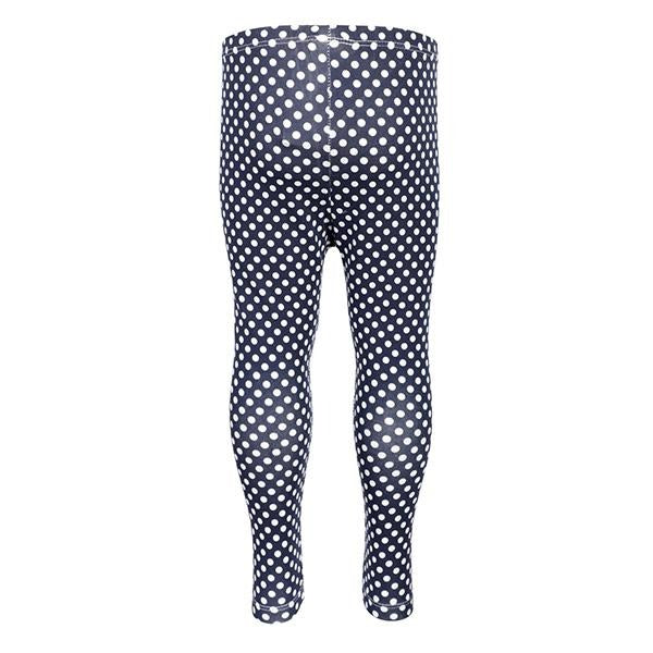 BABY GIRLS BLUE POLKA DOT LEGGINGS - ruffntumblekids