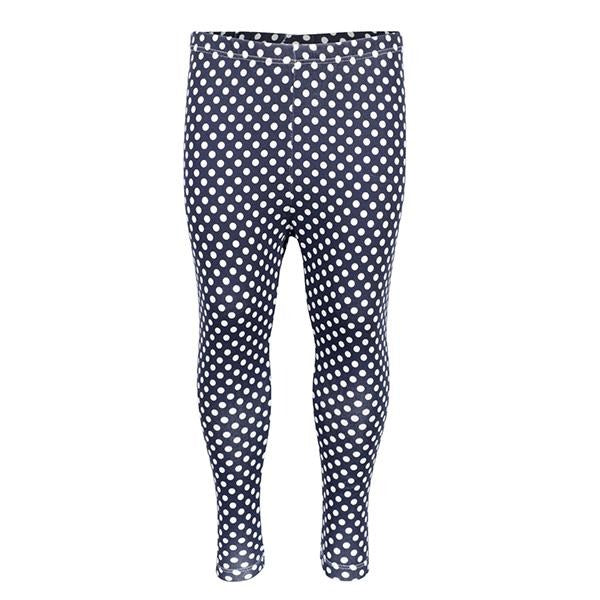 BABY GIRLS BLUE POLKA DOT LEGGINGS