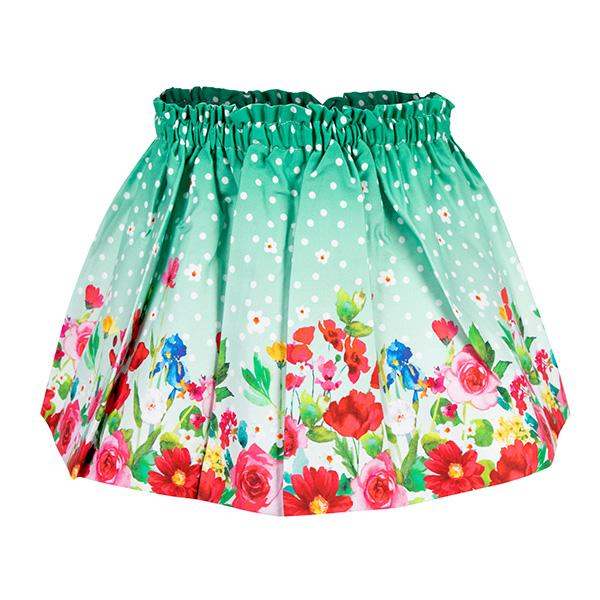 GIRLS GREEN TOP AND SKIRT SET - ruffntumblekids