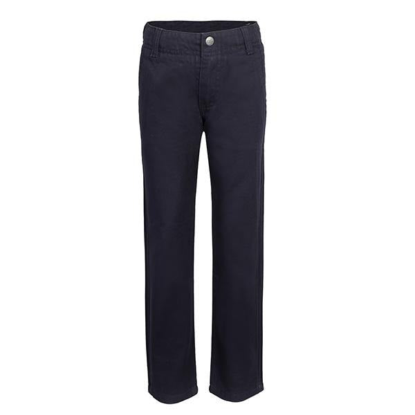 NAVY-BLUE TWILL BASIC TROUSERS