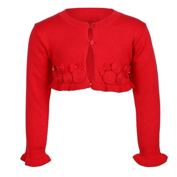 RED KNITTING  CARDIGAN
