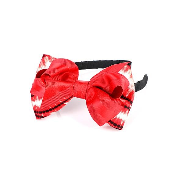 RED ANKARA PRINT ALICE BAND - ruffntumblekids