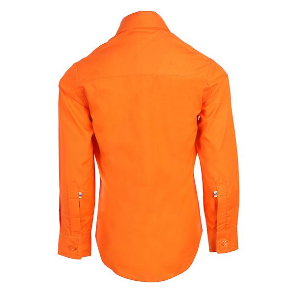 BOYS ORANGE PLAIN SHIRT