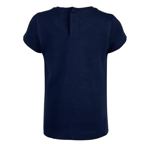 GIRLS NAVY FLOWER PRINT TEE