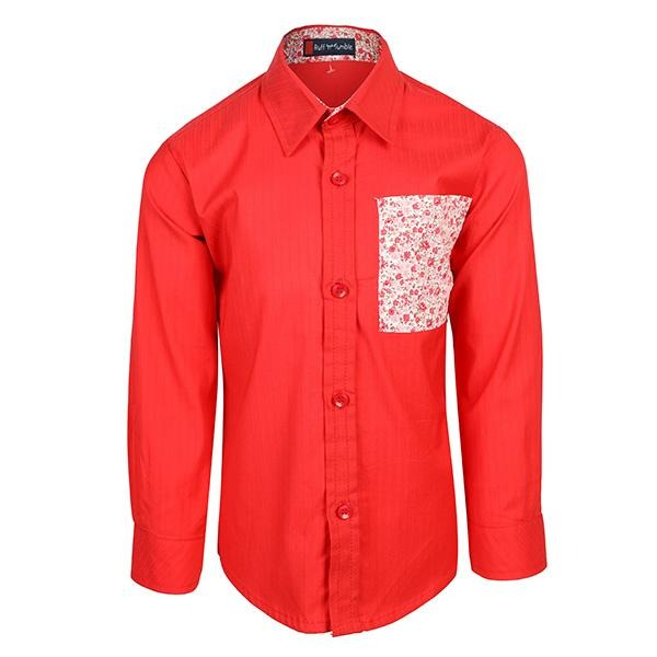 BOYS RED SHIRT WITH BIG POCKET