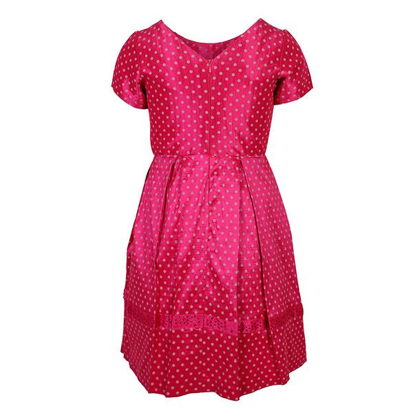 PINK POLKA DOT FLARE DRESS - ruffntumblekids