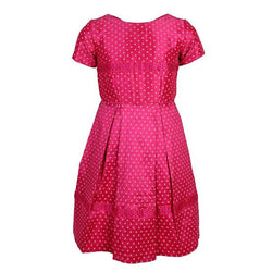 PINK POLKA DOT FLARE DRESS
