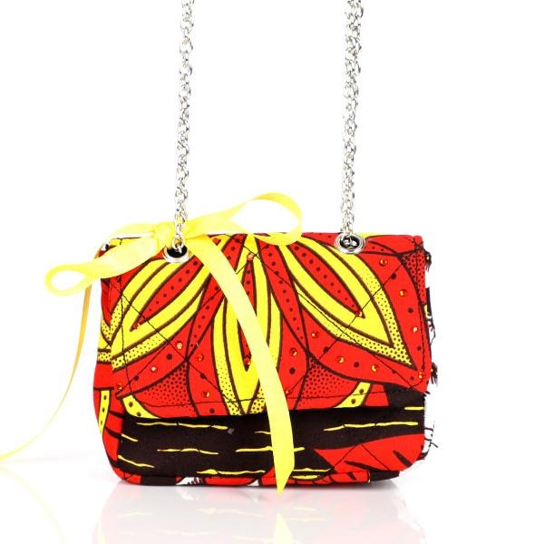 GIRLS MULTI ANKARA MINI SLING BAG - ruffntumblekids