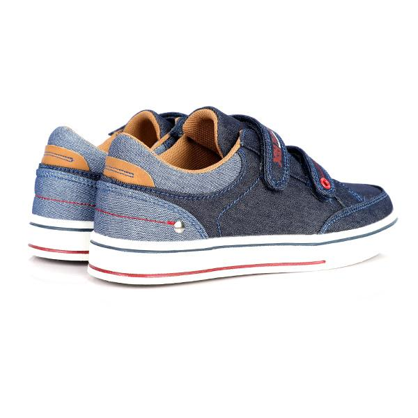 NAVY VELCRO CASUAL SNEAKERS