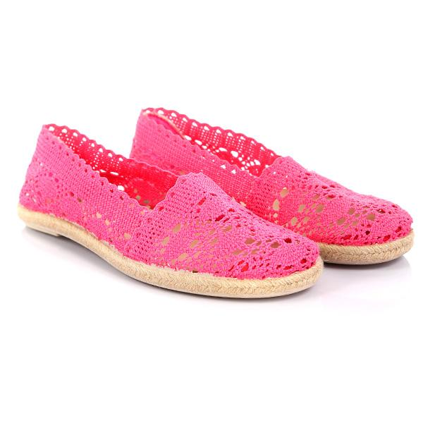 GIRLS FUCHSIA REGULAR CROTCHET SLIP ON