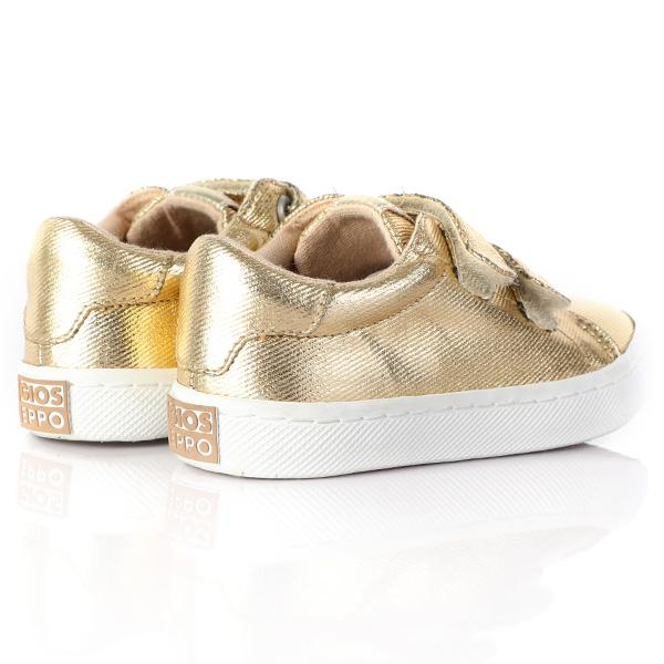 GIRLS GOLD SNEAKERS