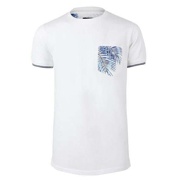 BOYS WHITE SHORT SLEEVE PRINT POCKET T-SHIRT - ruffntumblekids