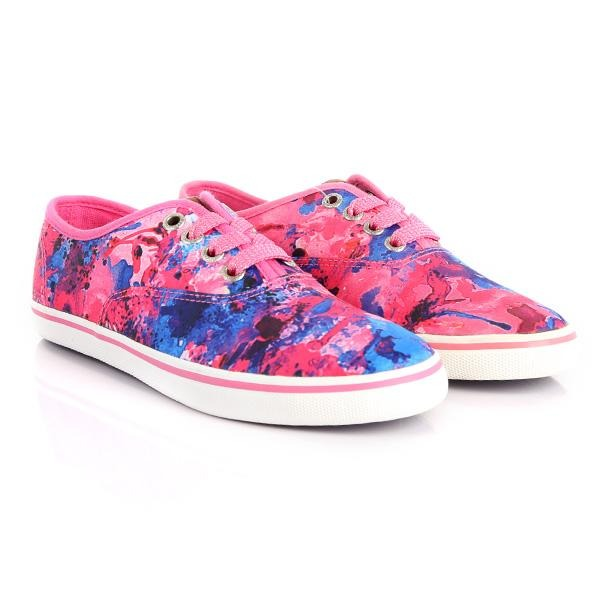 girls multi-color floral vans like sneakers_ruffntumblekids
