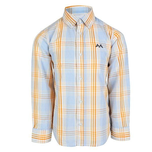 BLUE/YELLOW LONG SLEEVE CHECK SHIRT_ruffntumblekids