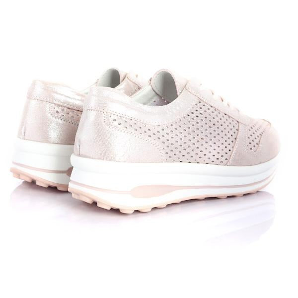 GIRLS PINK LACE UP SNEAKERS_ruffntumblekids
