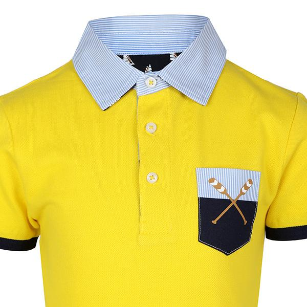BOYS YELLOW SHORT SLEEVE POLO T-SHIRT - ruffntumblekids