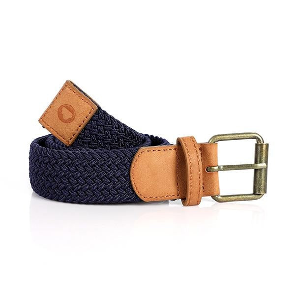 BOYS NAVY ELASTIC BRAIDED BELT - ruffntumblekids