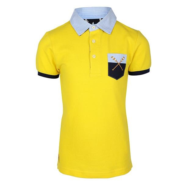 YELLOW SHORT SLEEVE POLO T-SHIRT_ruffntumblekids