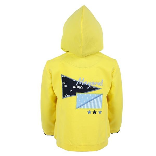 BOYS YELLOW LONG SLEEVES ZIPPER HOODIE - ruffntumblekids
