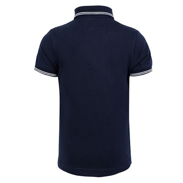BOYS NAVY SHORT SLEEVES POLO T-SHIRT - ruffntumblekids