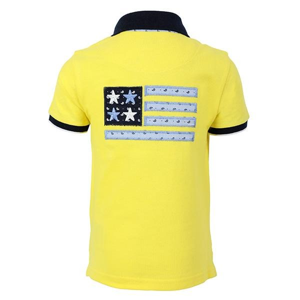 BOYS YELLOW SHORT SLEEVES POLO T-SHIRT - ruffntumblekids