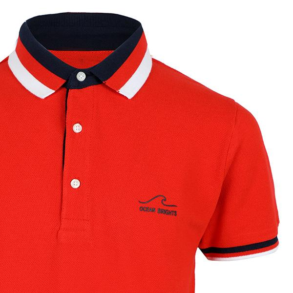 BOYS RED SHORT SLEEVED PRINT POLO - ruffntumblekids