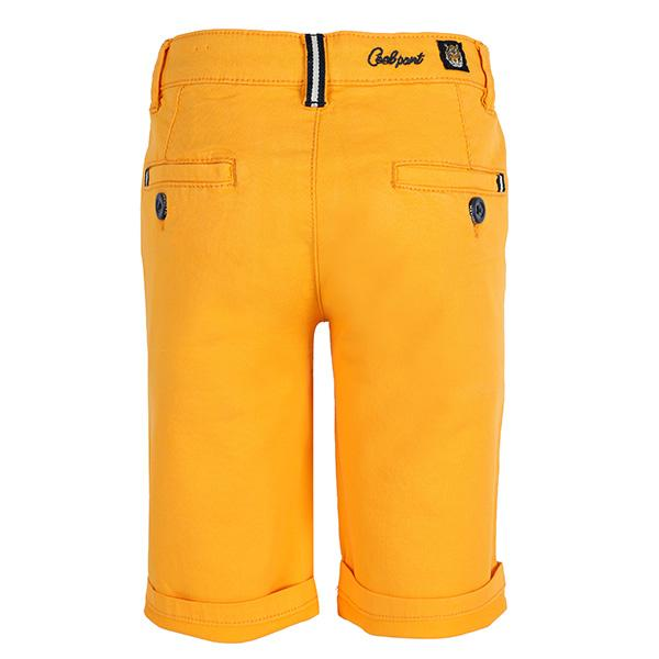 BOYS ORANGE STRUCTURED SHORTS - ruffntumblekids