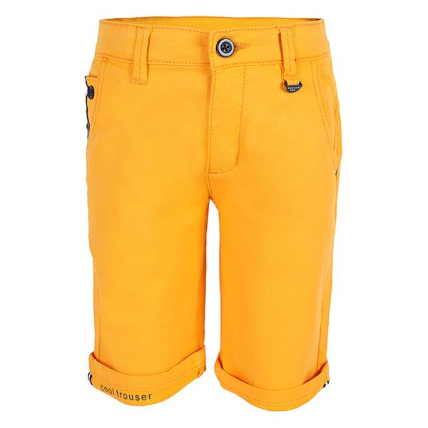 BOYS YELLOW STRUCTURED SHORTS_ruffntumblekids