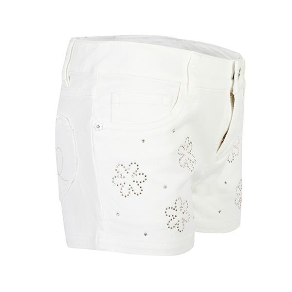 GIRLS NATURAL EMBROIDERED DENIM SHORT