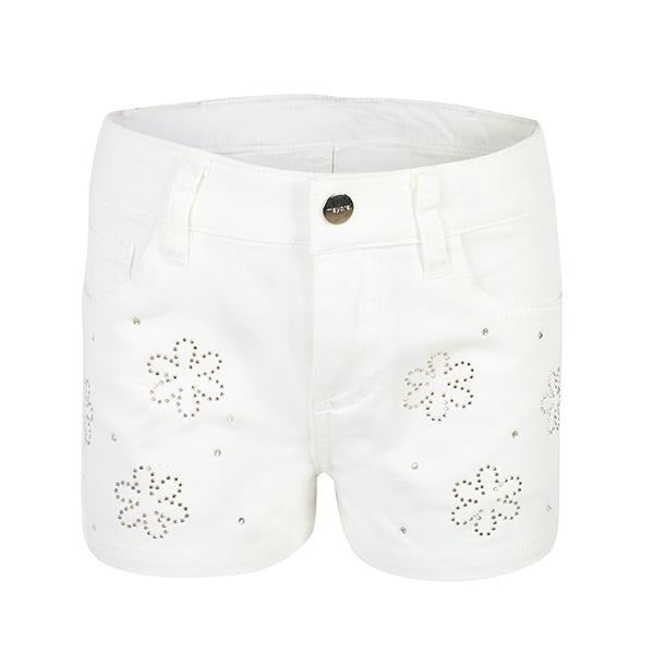 girls natural embroidered denim short _ruffntumblekids
