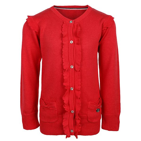 GIRLS RED KNIT CARDIGAN - ruffntumblekids