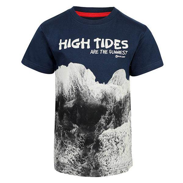 BOYS NAVY BLUE SHORT SLEEVE GRAPHIC TEE