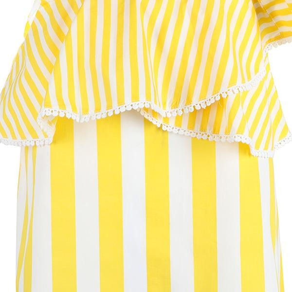 GIRLS YELLOW STRIPES POPLIN BLOUSE - ruffntumblekids