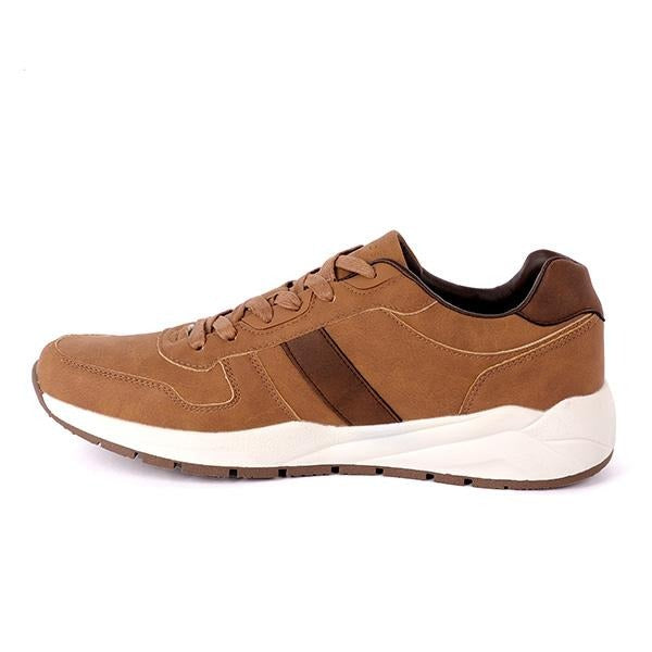BOYS BROWN LACE UP CASUAL SNEAKERS