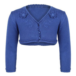 Royal Blue Knitted Cotton Cardigan_Ruffntumble