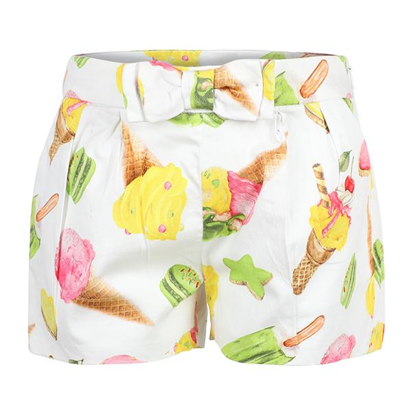 Girls Green/ Ice Cream Satin Shorts_Ruffntumble