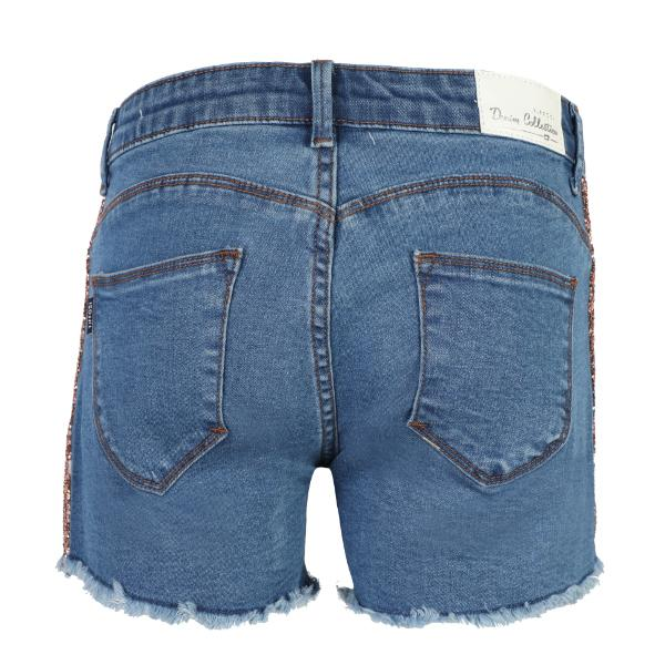 Girls Denim Blue Shorts_Ruffntumble