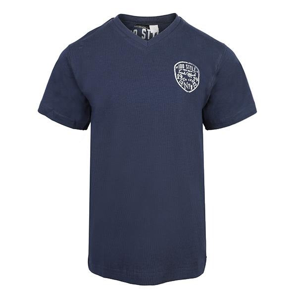 navy blue short sleeve T-shirt-ruffntumble