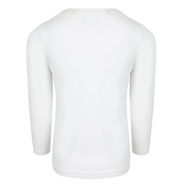 BOYS WHITE KNITTED T-SHIRT