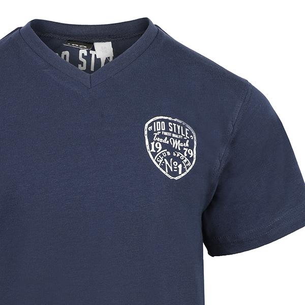 BOYS NAVY BLUE SHORT SLEEVE T-SHIRT - ruffntumblekids